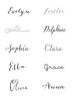 Evelyn | Lorelei | Alice | Delphine | Sophia | Clara | Ella | Grace | Olivia | Anna