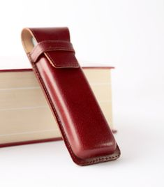 Leather fountain pen case. High quality pen case.  by secondstudio