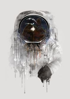 Astronaut Art Print by Daniel Taylor, digital arte ( arte digital) Astronaut Drawing, Astronaut Tattoo, Canvas Art, Canvas Prints, Art Prints, Canvas Size, Astronaut Wallpaper, Sketch Manga, Space Illustration