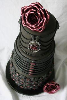 Gothic Black Wedding Cake