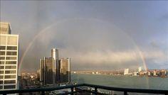 Rainbow over Detroit