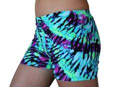 Neon Tie Dye Spandex Compression Shor... $19.99