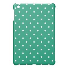 Style out your iPad mini with this 50's Style Polka Dot Case in Emerald Green