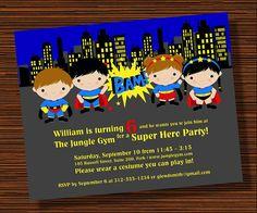 Super Hero birthday party Initation