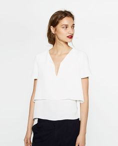LAYERED TOP-View all-TOPS-WOMAN-COLLECTION AW16 | ZARA United States