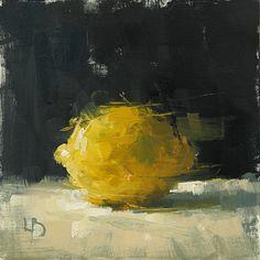 8 x 8″, Lemon Study, Oil on board.