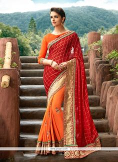 Jazzy Patch Border Work Georgette Designer Traditional Sarees Model: YOSAR7557