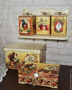 Купить По мотивам Прованса... - кремовый, молочный цвет, набор для кухни, полка для кухни, хлебница