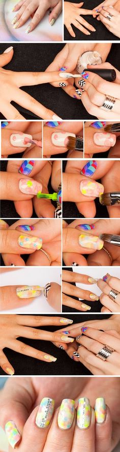 Gorgeous Tie Dye and Glitter Nail Tutorials / Best LoLus Makeup Fashion