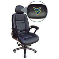 NCAA West Virginia Mountaineers Leather Office Chair by Wild Sports. $249.99. Tilt Tension Adjustment & Single Lever Seat Height Control with Locking Mechanism.. Contoured Lumbar Support and extra padded seat for maximum comfort. Officially Licensed using Top Grain Leather in the Team or school Colors. We have the best seats in the house with our new, Officially Licensed Leather Office Chairs! If you are a sports fan this is a must have. It has all the ergonomic features you ...