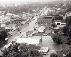 IT'S HICKSVILLE in 1972, in a photo taken from the elevator by a Cleveland Plain Dealer photographer.