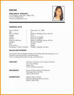 Image Result For Marriage Biodata Format Download Word Format Free