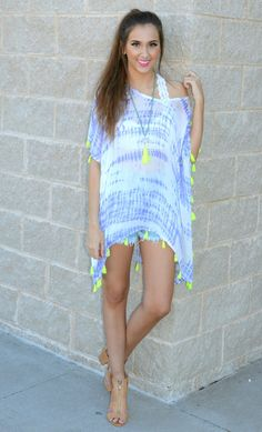 Don't LIME 2 Me Tie-Dye Cover-Up