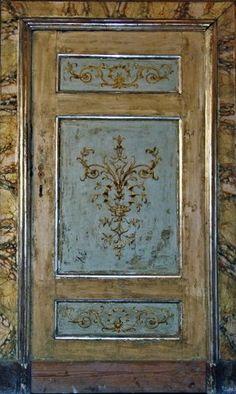 hand painted antique door