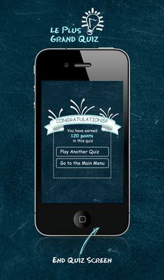 iPhone Quiz App Design by Parikshit Sharma , via Behance