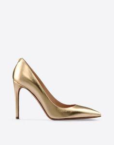 Valentino - Escarpin détail à clou - 10cm - 460€ - Or