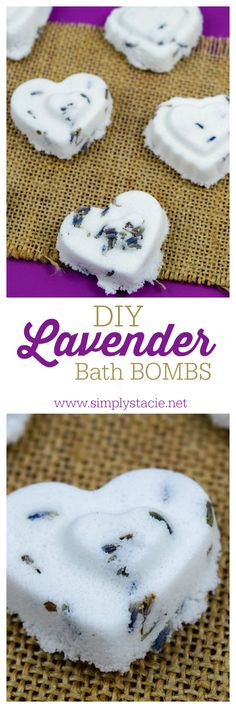 Make relaxing DIY Lavender Bath Bombs to enjoy in your home or to give as a gift!