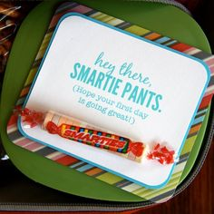 Back to School Party Favors: We like this for the first day back, or tucked carefully in your child's backpack.  Bet a crafty mom could come up with all sorts of ideas like this!