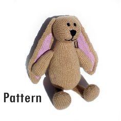PDF Pattern  Humboldt the Fancy Bunny  Knitting by Morrgan on Etsy