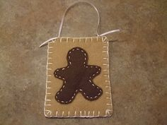 Felt Gingerbread Man Wall hanger or Xmas Ornament by itsCRAFTtime, $3.00