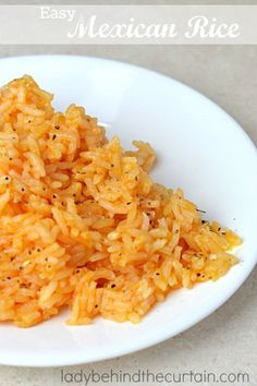 Easy Mexican Rice:  Better than restaurant rice.  Simple and tasty. I got this recipe from a neighbor in 1989.  Her husband was from Mexico so she was real