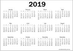10 Best Printable Calendar 2019 Images On Pinterest
