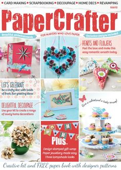 Our gorgeous cover showcasing some of the best #craft projects in PaperCrafter issue 62