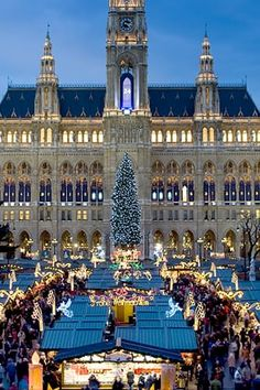 VIENNA, AUSTRIA  The holiday season is so magical in Austria's capital that if you visit any other time of the year, you're not really experiencing it. All December, Vienna's town squares are decorated with enormous, illuminated trees and glitzy Christmas market stalls filled with mulled wine (glühwein), crafts and roasted chestnuts.