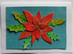 Watercolor Poinsettia Card Watercolor by LisasPaintedCrafts