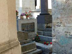Jim Morrison, lead singer of The Doors  Grave in Pere Lachaise Cemetery  Paris, France