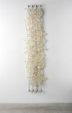 "Jacob Hashimoto: ""Odds and Ends"" - 2008 Bamboo, paper, nylon, acrylic, dacron and plexi; via theanatomyofelegance.blogspot"