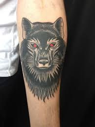 Image result for neo traditional wolf tattoo