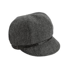 Women's San Diego Hat Company Belted Newsboy EBH9000 ($28) ❤ liked on Polyvore featuring accessories, hats, black, herringbone newsboy cap, news boy hats, baker boy, gatsby cap and herringbone hat