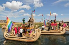 Lake Titicaca, Puno, Peru — by Alexandra Baackes. Puno Day on Lake Titicaca, Peru, is a festival worth traveling for. The festivities begin with colorful procession of...
