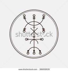 Galdrastafir. Magic runic symbols that appeared in the early Middle Ages in Iceland. Is a few, or multiple, intertwined runes. Evil eye protection.