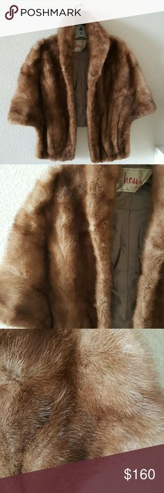 Vintage mink stole Vintage cape and in excellent condition..one size Hess's Jackets & Coats Capes