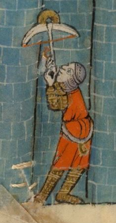 Detail from The Luttrell Psalter, British Library Add MS 42130 (medieval manuscript,1325-1340), f75v