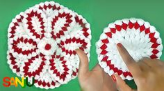 Crochet, Crosia, Krosha Thali posh with 6 pattern. Hello friends, Today I am sharing once again a new and different type of Thali posh. This Thali posh is looking a single but it is made up of 6 different pattern. Moda Emo, Crochet Videos, Hot Pads, Different Patterns, Knit Crochet, Knitting, Holiday Decor, Create, Moda Masculina