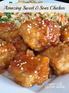 "Feeling like chinese food for ""Fun Food Friday"". Think we'll start with this! Amazing Sweet and Sour Chicken"
