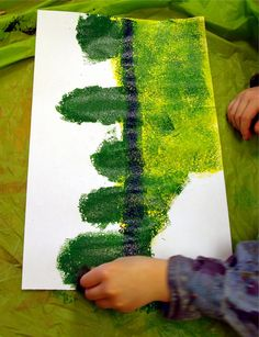 These beautiful garden paintings were created by my first graders. Everyone had great success, simply by following along, step by step, wh...