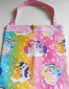 My Little Pony Girls Tote Bag Trick or Treat Bag by AnnesUniqueBoutique on Etsy