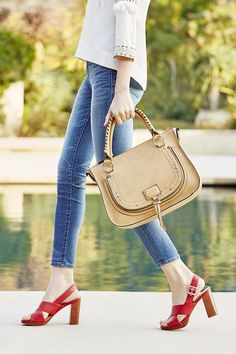 Luxurious camel whipstitch satchel with studded hardware Look Cool, Poses, Purses And Handbags, Me Too Shoes, Style Me, Bowling, Personal Style, Fashion Accessories, Shoe Bag