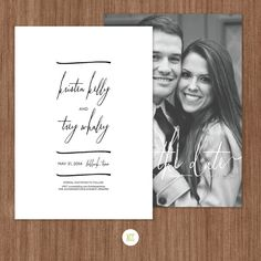 Simple Save The Date Card.