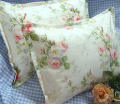 Custom Boudoir shams (2) RALPH LAUREN fabric MEADOW WAY Original Retired 12x16