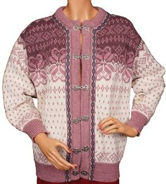 Vintage Dale of Norway Wool Cardigan Sweater Ladies Size 42 Medium - Poppy's Vintage Clothing Ski Sweater, Cardigan Sweaters For Women, Wool Cardigan, Cardigans, Lilac Color, Norway, Vintage Outfits, Unisex, Pure Products
