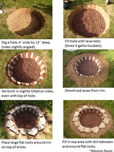 My outdoor firepit instructions. ~Monica~We're building a firepit b/c we are homeowners now and can do that!