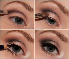 Big bright eyes tutorial. Apply dark shadow to crease (preferably black) and blend. This will add depth to your eyes. Line your waterline with white eyeliner. This will make your eyes appear bigger and brighter. Add mascara and voila!