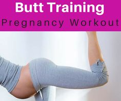 Pregnancy workout for butt. Home exercise to tone butt during pregnancy.