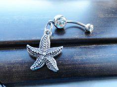 Starfish Belly Ring