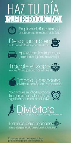 Haz tu día superproductivo  #NLP - Neuro Linguistic Programming - Maroc Désert Expérience http://www.marocdesertexperience.com